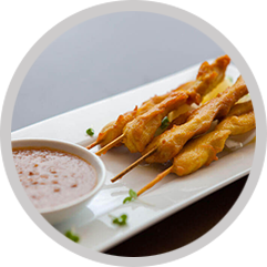 26 Chicken Satay (4 skewers)